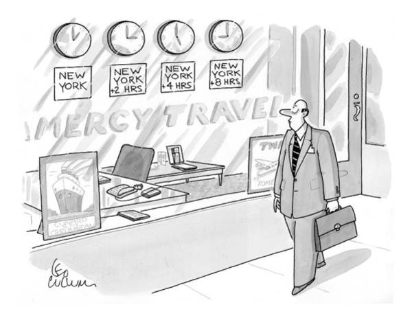 Clock Drawing - New Yorker May 18th, 1998 by Leo Cullum