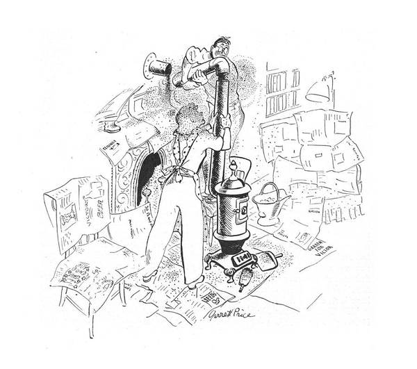 Experiment Drawing - New Yorker May 1st, 1943 by Garrett Price