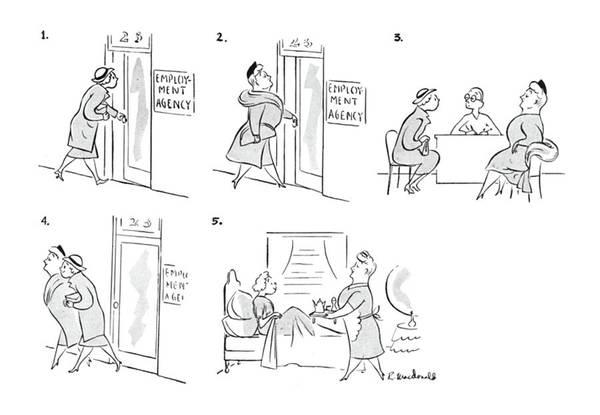 Maid Drawing - New Yorker May 1st, 1943 by Roberta Macdonald