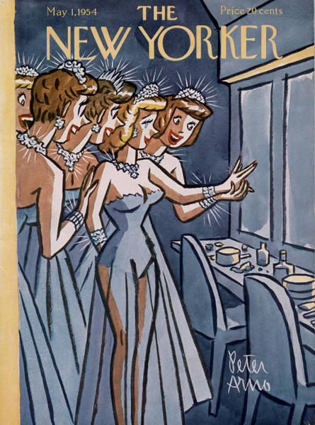 Men Painting - New Yorker May 1st, 1954 by Peter Arno