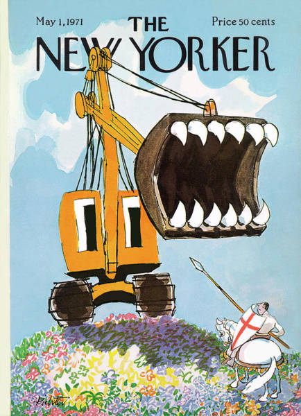 Riding Painting - New Yorker May 1st, 1971 by Mischa Richter