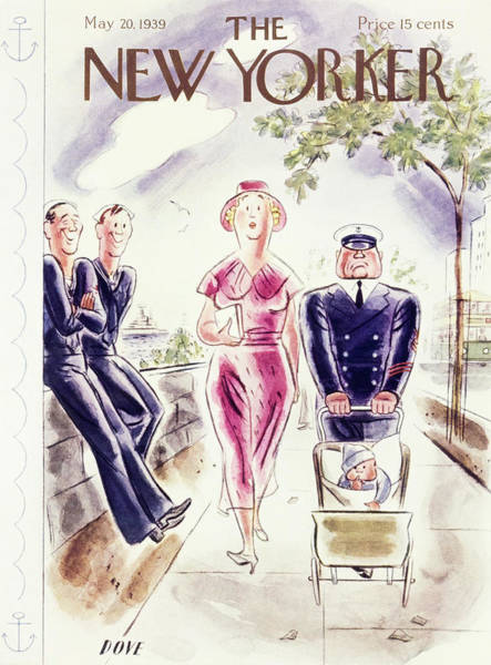Navy Painting - New Yorker May 20 1939 by Leonard Dove