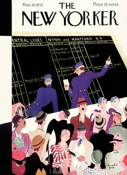 Grand Central Painting - New Yorker May 20th, 1933 by Arnold Hall