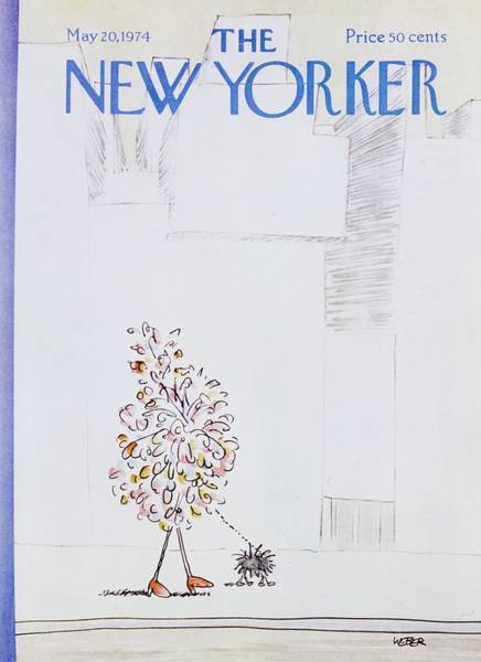 Leash Painting - New Yorker May 20th 1974 by Robert Weber