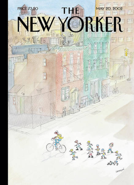 Bicycle Painting - New Yorker May 20th, 2002 by Jean-Jacques Sempe