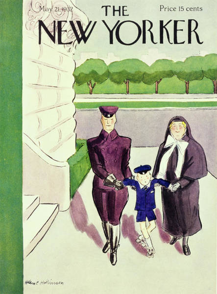 Mother Painting - New Yorker May 21 1932 by Helene E. Hokinson
