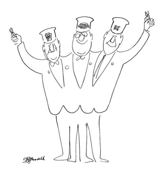 Mergers Drawing - New Yorker May 21st, 1966 by Frank Modell