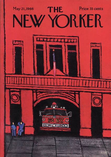 America Painting - New Yorker May 21st, 1966 by Robert Kraus