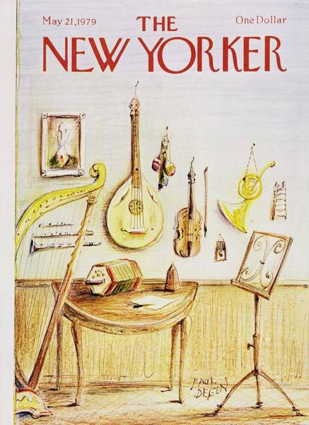Table Painting - New Yorker May 21st 1979 by Paul Degen