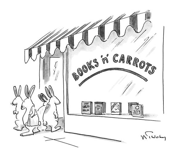Bookstore Drawing - New Yorker May 21st, 1990 by Mike Twohy