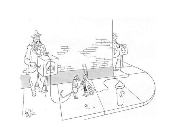 Mugging Drawing - New Yorker May 22nd, 1943 by George Price