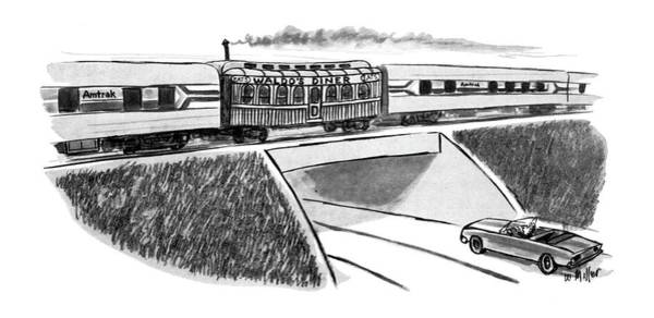 Old Car Drawing - New Yorker May 22nd, 1978 by Warren Miller