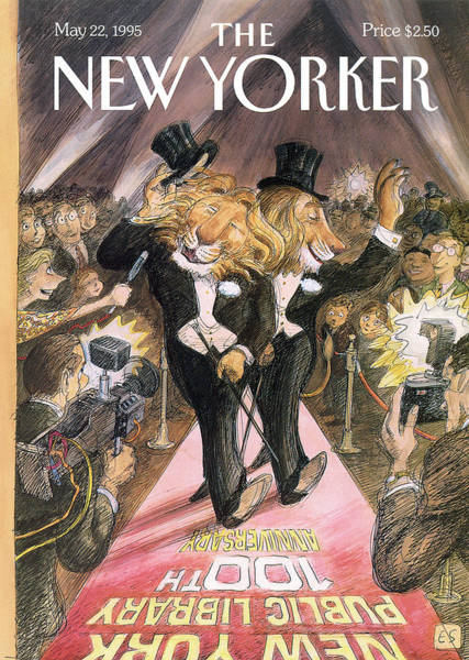 Crowd Painting - New Yorker May 22nd, 1995 by Edward Sorel