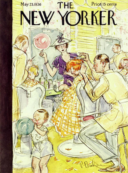 Barbershop Painting - New Yorker May 23 1936 by Perry Barlow