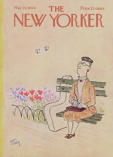Seasonal Painting - New Yorker May 23rd, 1964 by William Steig