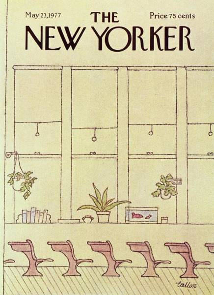 Book Illustration Painting - New Yorker May 23rd 1977 by Robert Tallon
