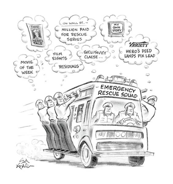 Truck Drawing - New Yorker May 23rd, 1988 by Ed Fisher