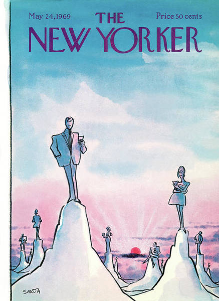 1969 Painting - New Yorker May 24th, 1969 by Charles Saxon