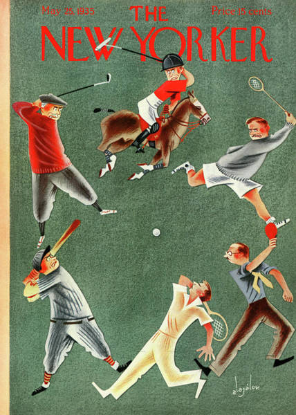 Polo Painting - New Yorker May 25th, 1935 by Constantin Alajalov