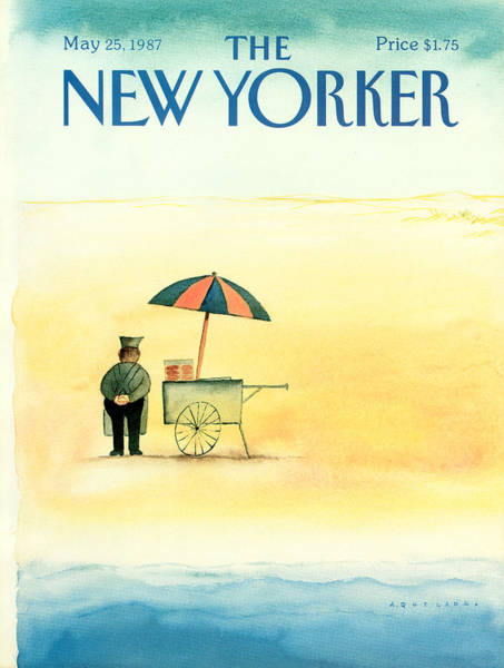 News Stand Painting - New Yorker May 25th, 1987 by Abel Quezada