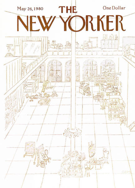 City Life Painting - New Yorker May 26th, 1980 by Charles E. Martin
