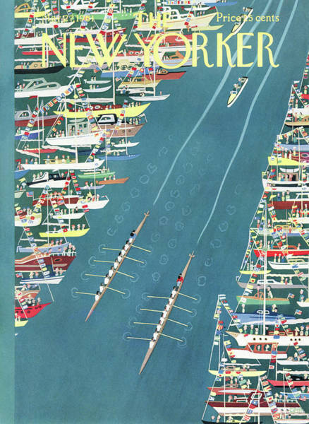 Rowing Painting - New Yorker May 27th, 1961 by Charles E Martin