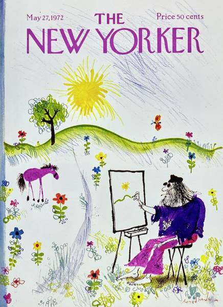 Headgear Painting - New Yorker May 27th 1972 by Ronald Searle