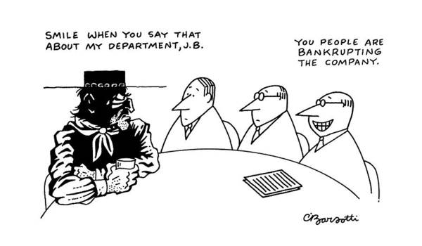 Department Drawing - New Yorker May 27th, 1991 by Charles Barsotti