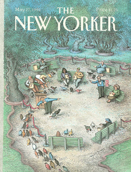 Service Painting - New Yorker May 27th, 1991 by John O'Brien