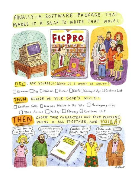 Invention Drawing - New Yorker May 27th, 1996 by Roz Chast