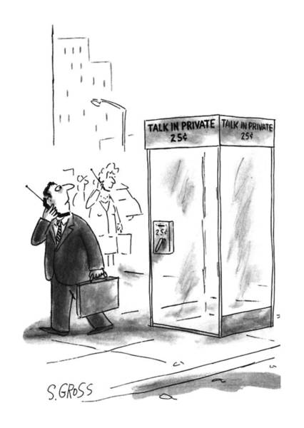 Deposit Drawing - New Yorker May 27th, 1996 by Sam Gross