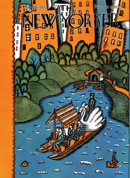 River Painting - New Yorker May 28th, 1927 by Ilonka Karasz