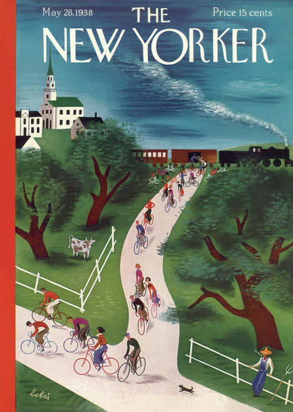 Bicycle Painting - New Yorker May 28th, 1938 by Victor Bobritsky