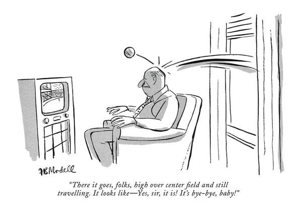 Watching Drawing - New Yorker May 28th, 1955 by Frank Modell