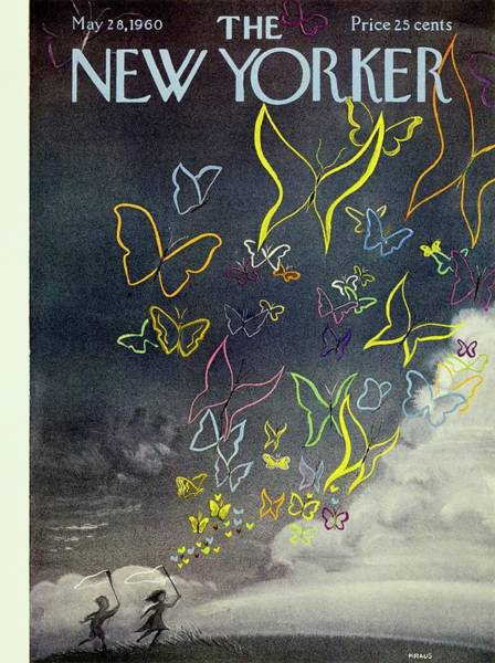 Cloud Painting - New Yorker May 28th 1960 by Robert Kraus