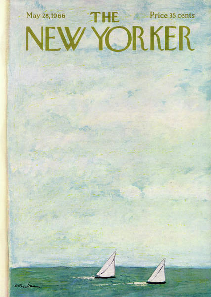Nautical Painting - New Yorker May 28th, 1966 by Abe Birnbaum