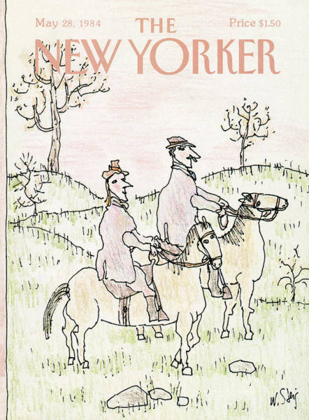 Riding Painting - New Yorker May 28th, 1984 by William Steig
