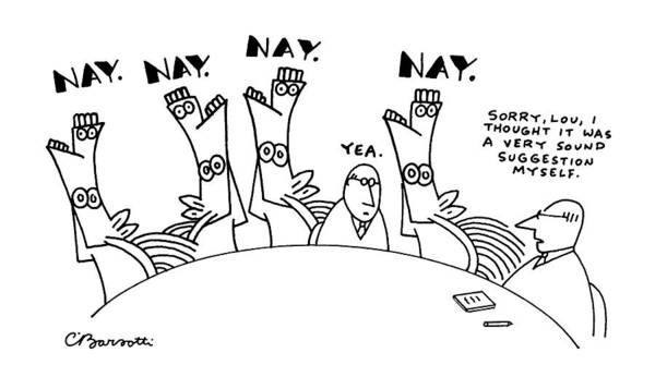 Vote Wall Art - Drawing - New Yorker May 28th, 1990 by Charles Barsotti