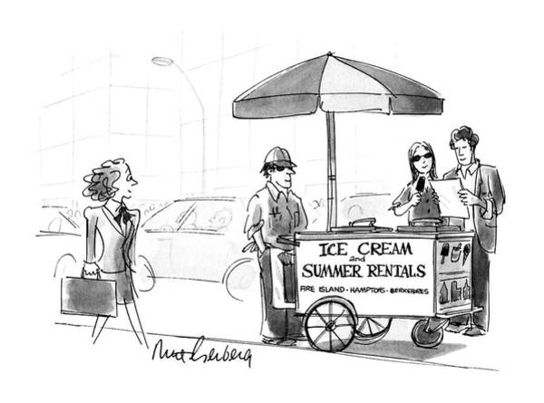 Cart Drawing - New Yorker May 28th, 1990 by Mort Gerberg