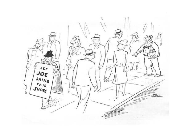 Sandwiches Drawing - New Yorker May 29th, 1943 by  Alain