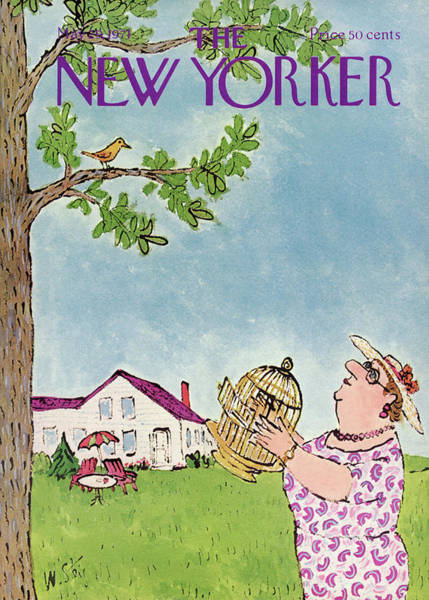 Canaries Painting - New Yorker May 29th, 1971 by William Steig