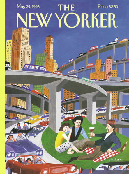 Developed Painting - New Yorker May 29th, 1995 by Mark Ulriksen