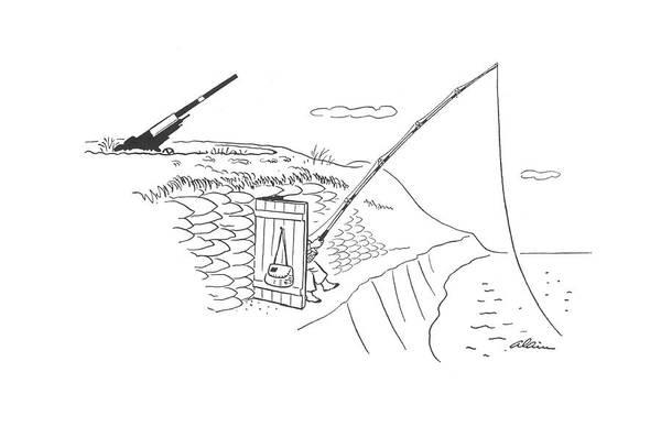 Coastal Drawing - New Yorker May 2nd, 1942 by  Alain