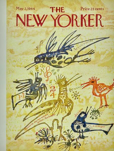 Musical Painting - New Yorker May 2nd 1964 by Joseph Low
