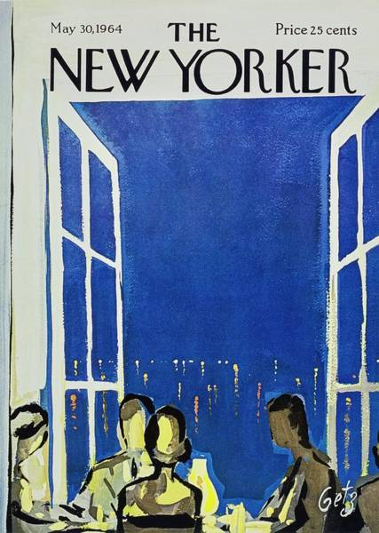 Drinks Painting - New Yorker May 30th 1964 by Arthur Getz