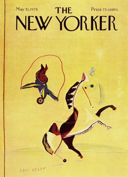 Performer Painting - New Yorker May 31st 1976 by Paul Degen