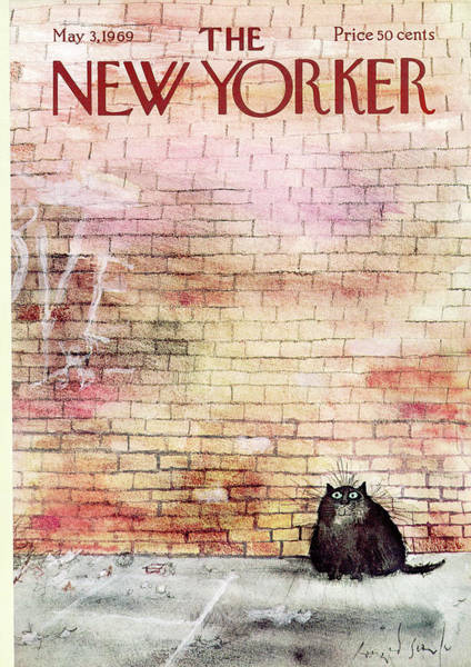 Pet Painting - New Yorker May 3rd, 1969 by Ronald Searle