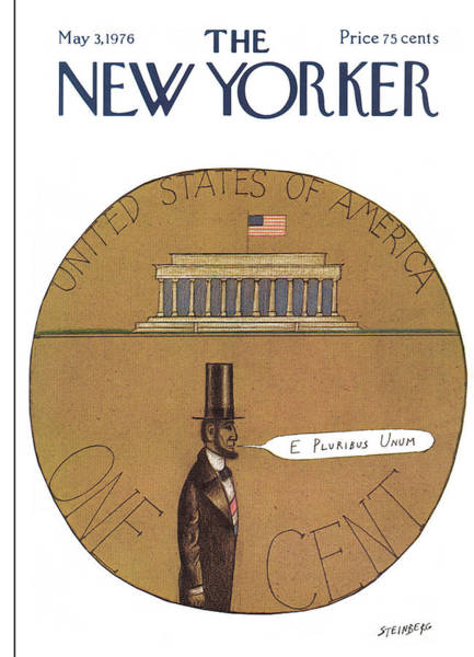America Painting - New Yorker May 3rd, 1976 by Saul Steinberg