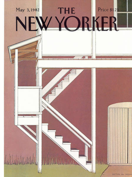 Suburban Painting - New Yorker May 3rd, 1982 by Gretchen Dow Simpson