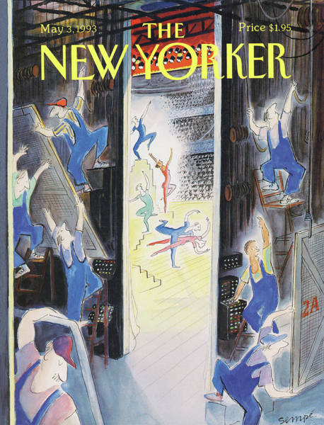 Stage Painting - New Yorker May 3rd, 1993 by Jean-Jacques Sempe